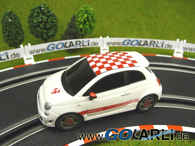 gokarli carrera slotcardatenbank bedienungsanleitung bild carrera go fiat 500 abarth wei. Black Bedroom Furniture Sets. Home Design Ideas